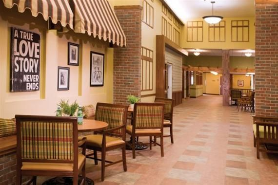 retirement home design. Nursing Home Design  Main Street Photo courtesy of Direct Supply Aptura