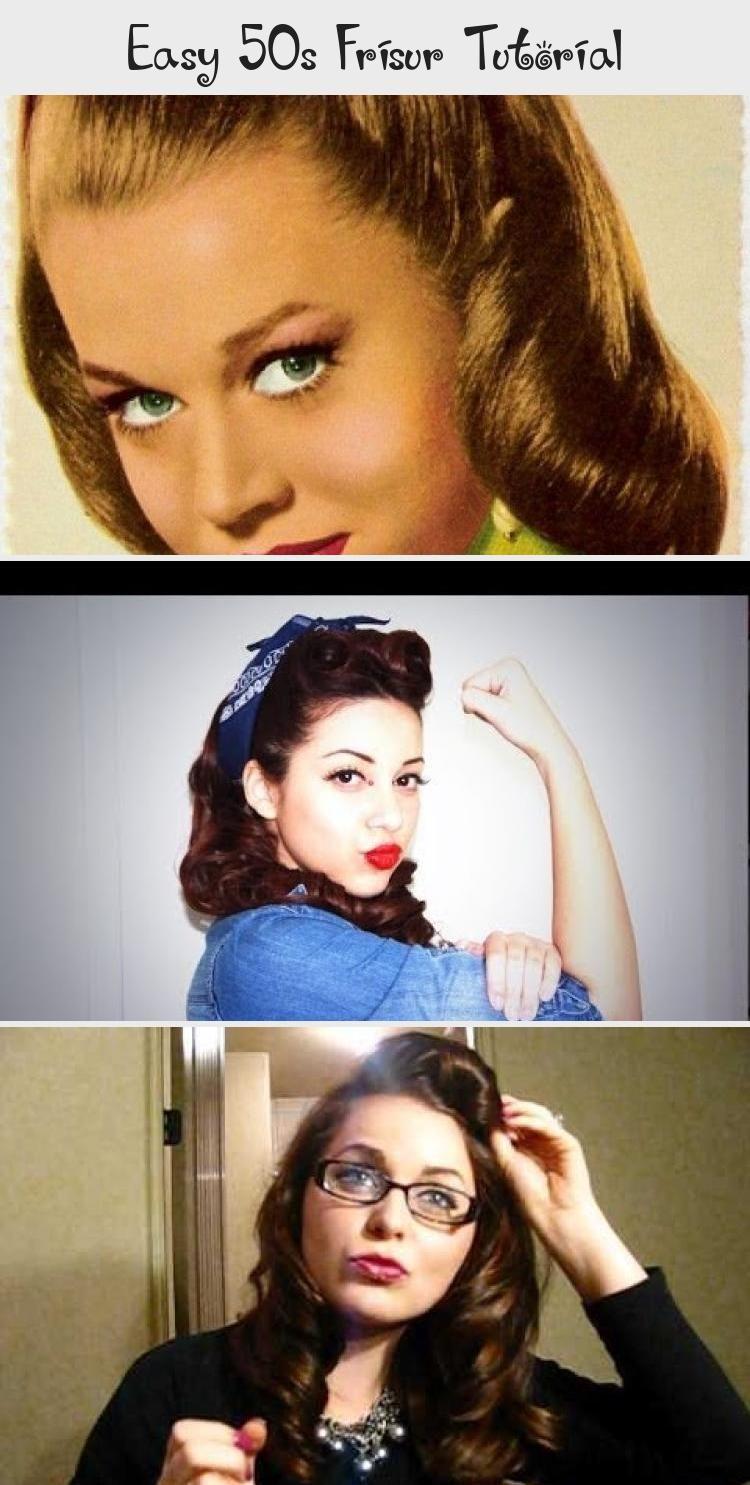 Easy 50s Frisur Tutorial Vintage Hairstyles Hair Styles Easy Vintage Hairstyles