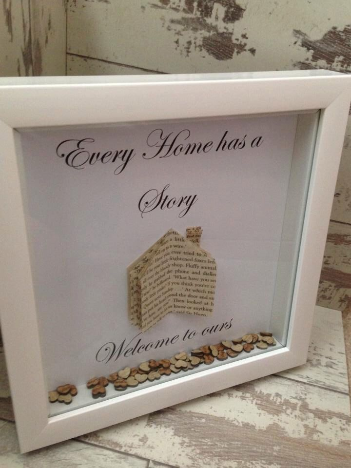 Every Home Has A Story Welcome To Ours 8x8 Inch Shadow Box Frame Up Cycled Book Pages House Warming Gift Gift Fo Diy Shadow Box Box Frame Art Frame Crafts