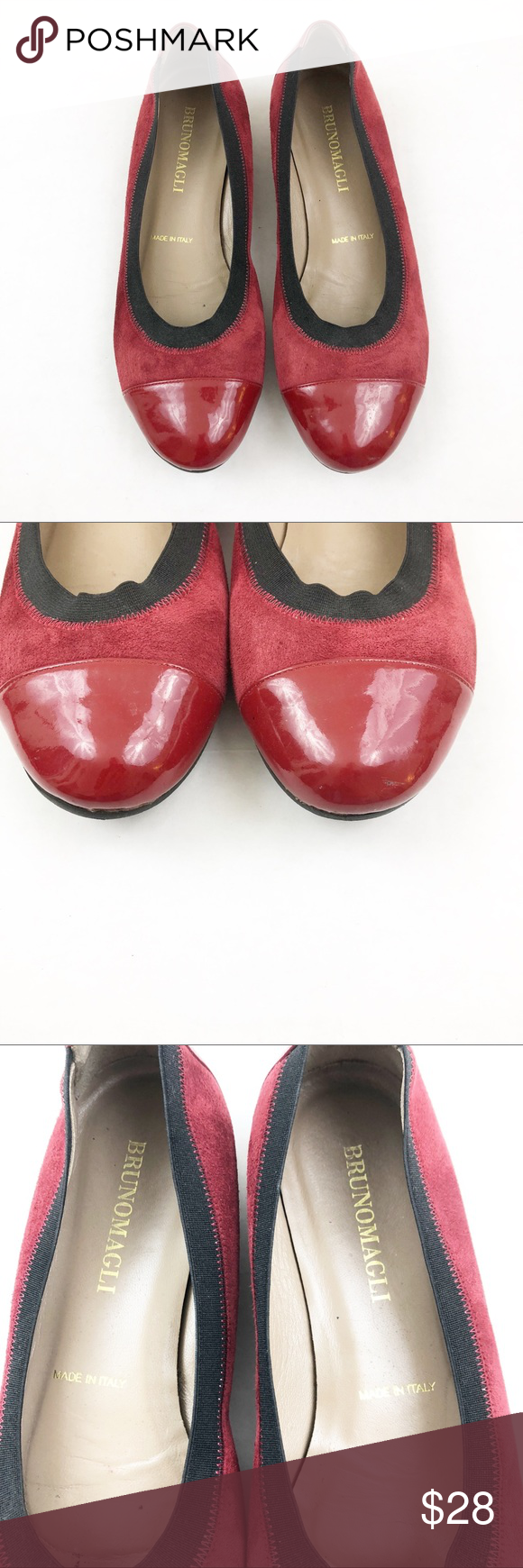 f504fe610685 Bruno Magli Red Suede Ballet Flats Bruno Magli Red Suede Ballet Flats.  Gorgeous pair of