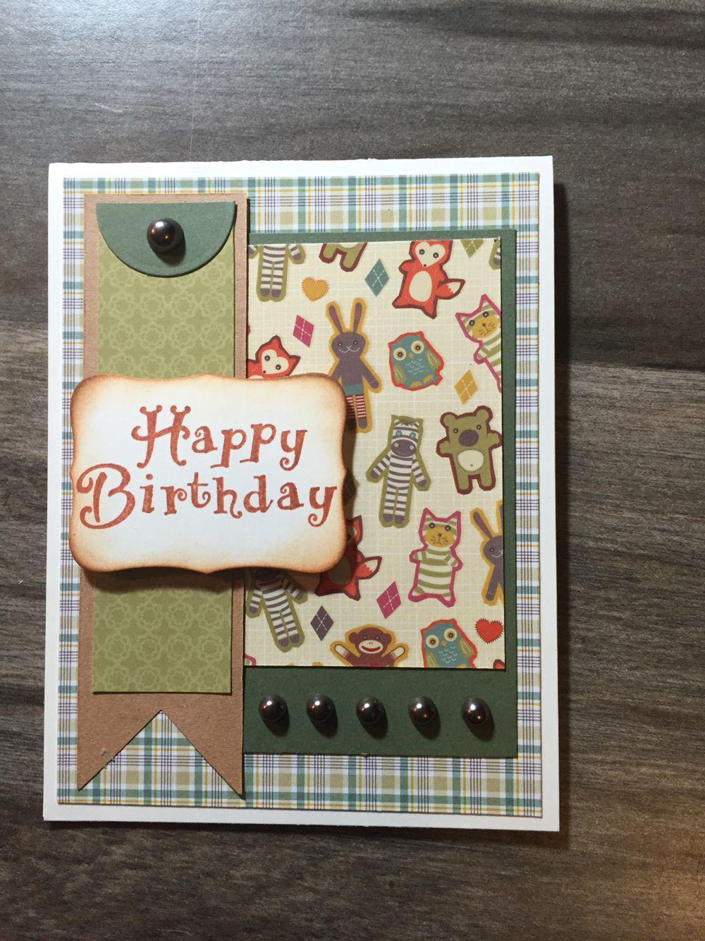 Masculine birthday Greeting cards handmade, Sympathy