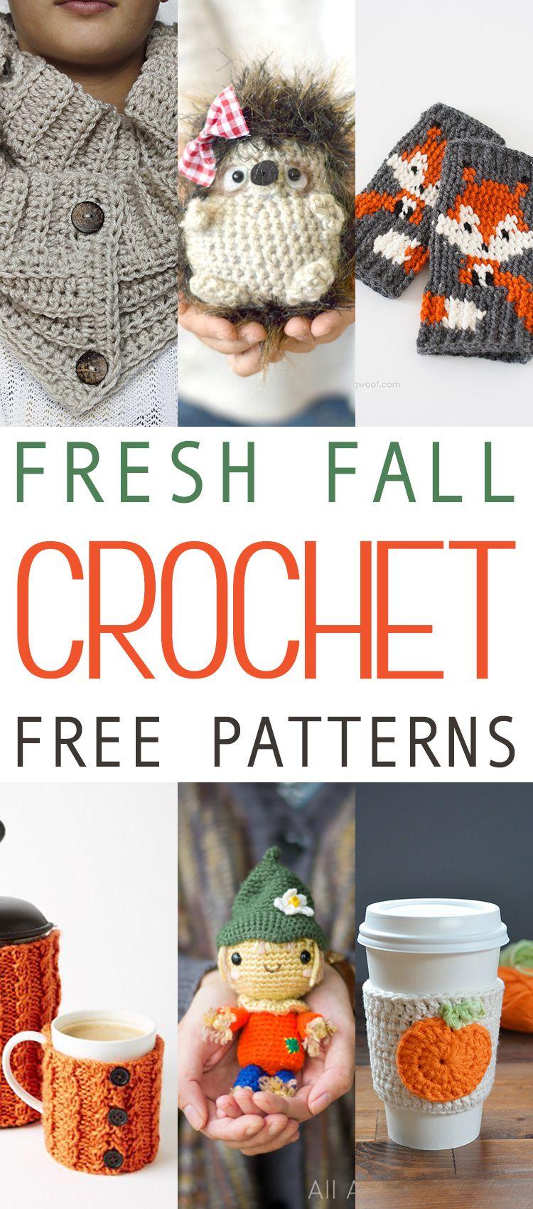 15 Fresh Fall Free Crochet Patterns | Tejido, La casa de mis sueños ...