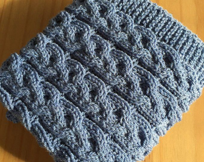 Quick and Easy Basket Weave Baby Blanket ~ Knitting ...