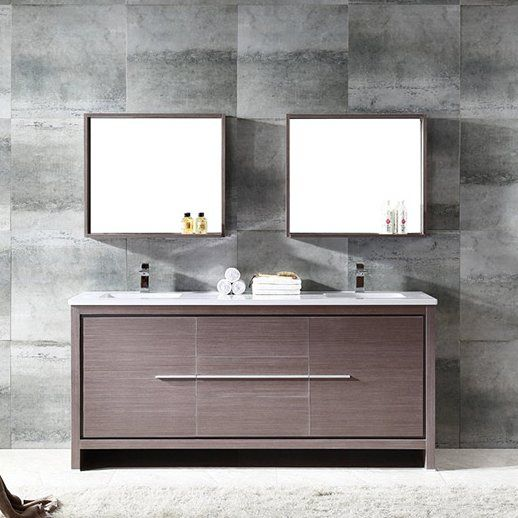 trieste allier 72 double bathroom vanity set with mirror in 2018 rh pinterest com