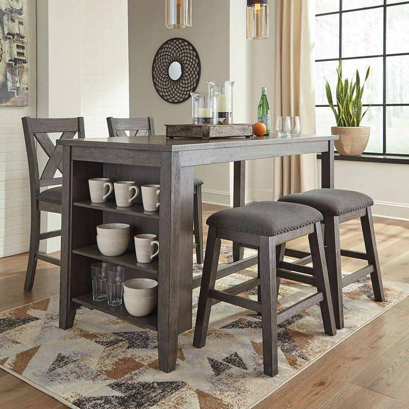 Caitbrook Counter Height Dining Room Set W Chairs Choices Dining Table With Storage Dining Room Cozy Counter Height Dining Table
