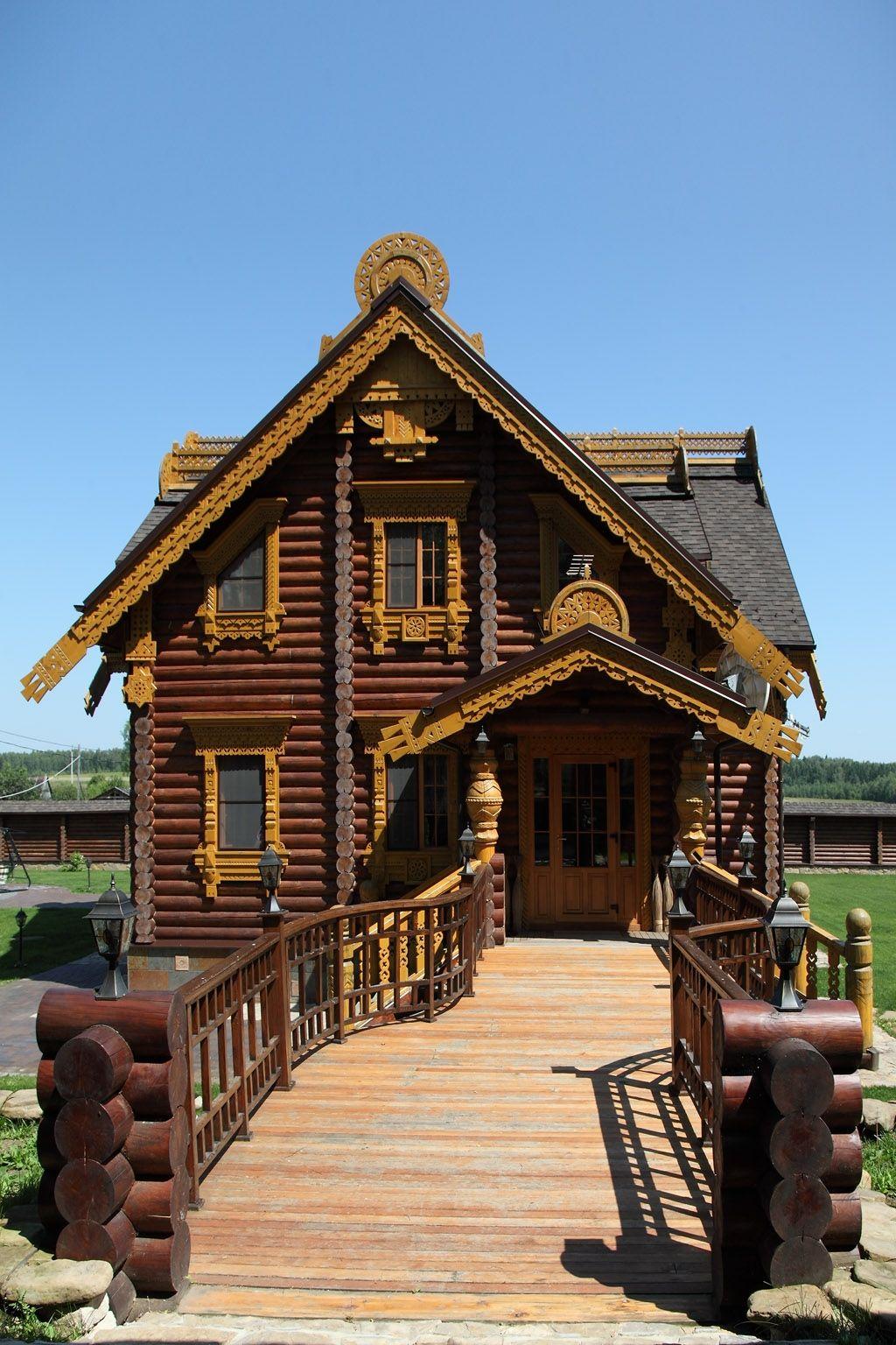 Traditional Russian Izba (log House). Db
