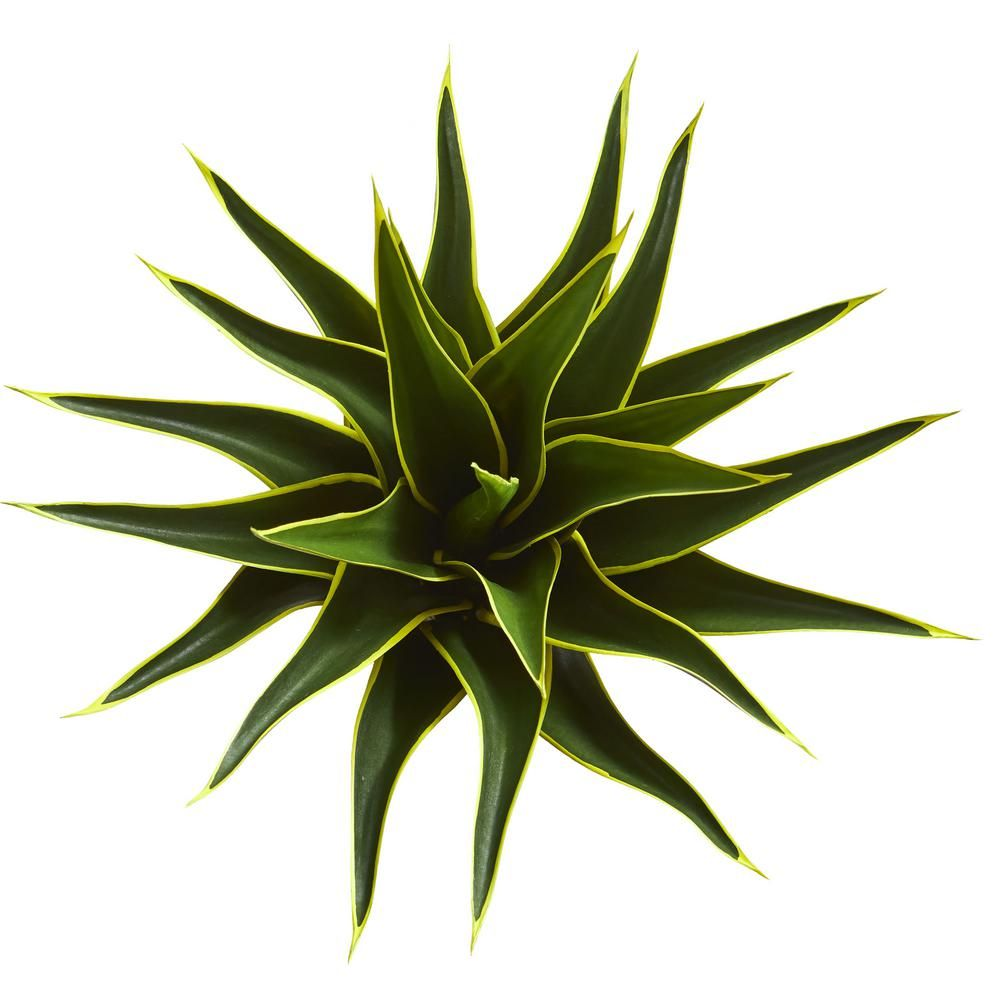 Nearly Natural Indoor 23 in. Agave Artificial Plant-6333 - The Home Depot -   13 table plants Png ideas