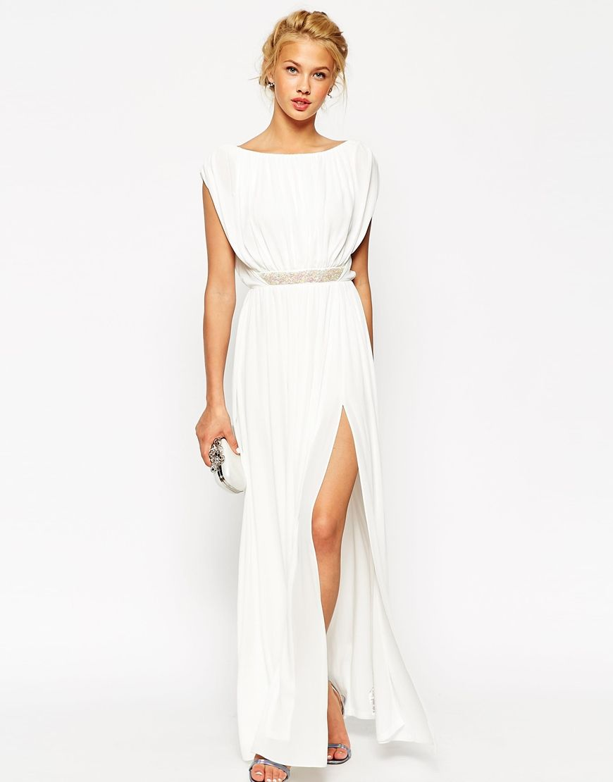 ASOS Embellished Waist Maxi Dress. THEY DO THIS IN HEATHER BLUE ...