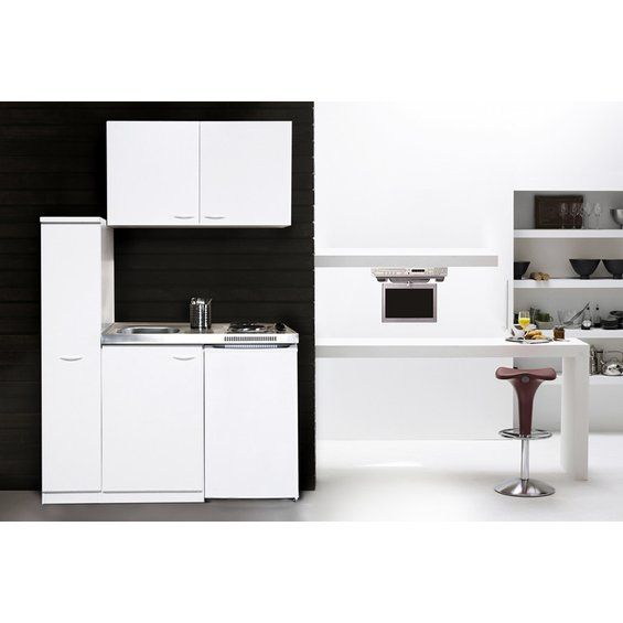 Respekta Miniküche MK130WOS 130 cm Weiß Mini kitchen