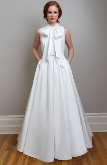 Suzzette Vintage Inspired Wedding Dress What Is More Pretty Than A With Great Bow Full Length Or Tea Suzette