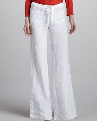 linen pants women drawstring - Pi Pants