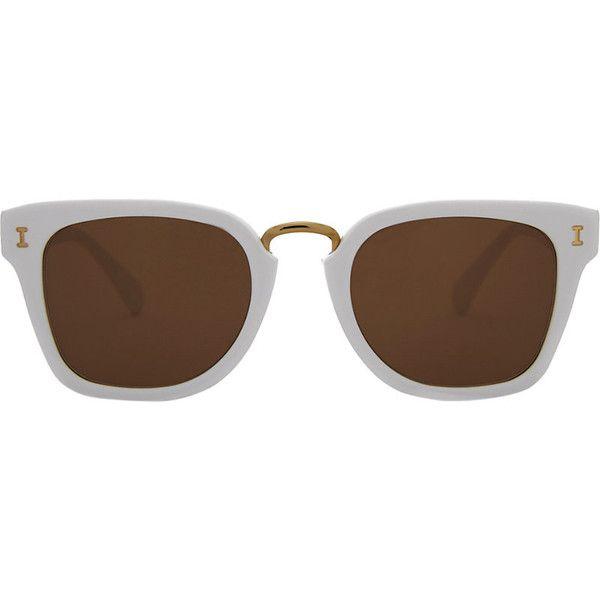 Illesteva Positano square-frame sunglasses ($215) ❤ liked on Polyvore featuring accessories, eyewear, sunglasses, illesteva eyewear, square frame glasses, square glasses, petite sunglasses and petite glasses