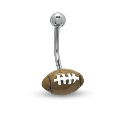 Football Belly Button Ring, perfect for football season!