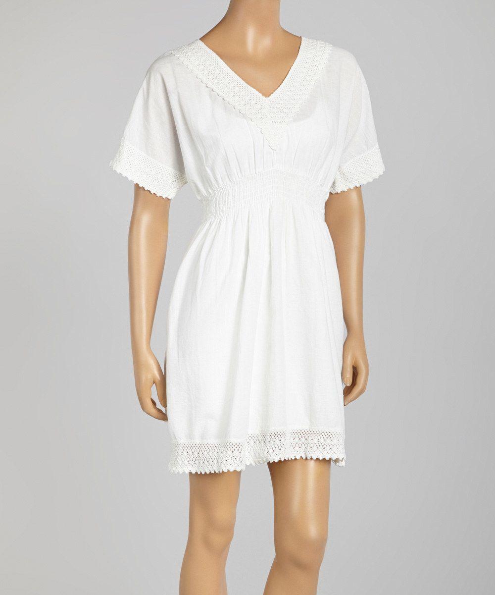 Whitecotton Empire Dress