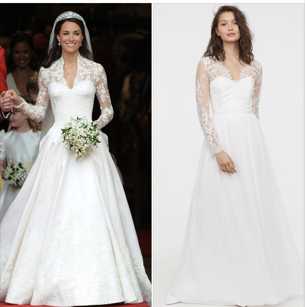Kate Middleton S Inspired Wedding Dress For Less Dress Like A Duchess Kate Middleton Wedding Dress Dresses For Less Dresses
