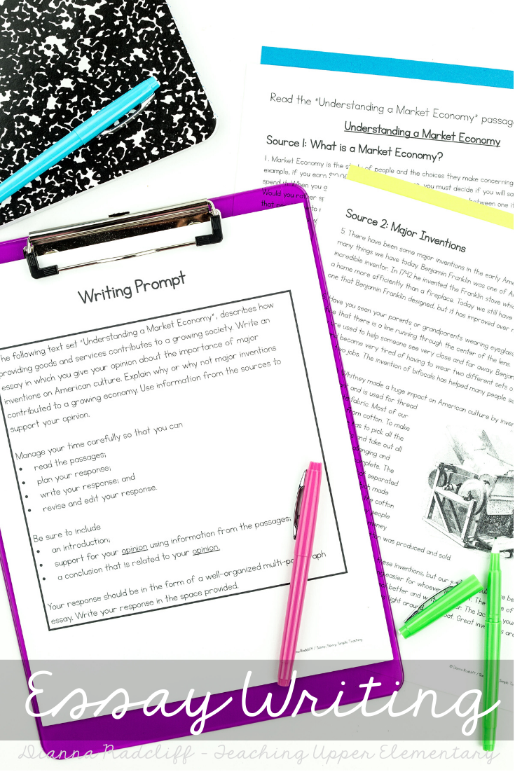 Text Based Essay Writing Informational Opinion Written Comprehension Teaching Upper Elementary Teaching Blogs