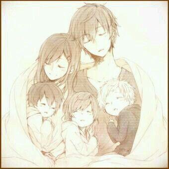 Anime Couple Twins Anime Family Anime Child Anime Pregnant