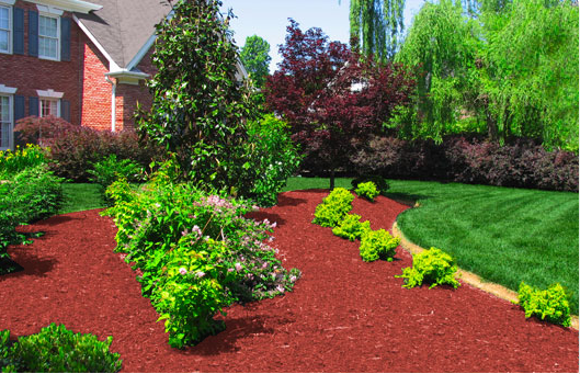 Red Mulch Smallbackyardlandscapeideas Mulch Landscaping Home