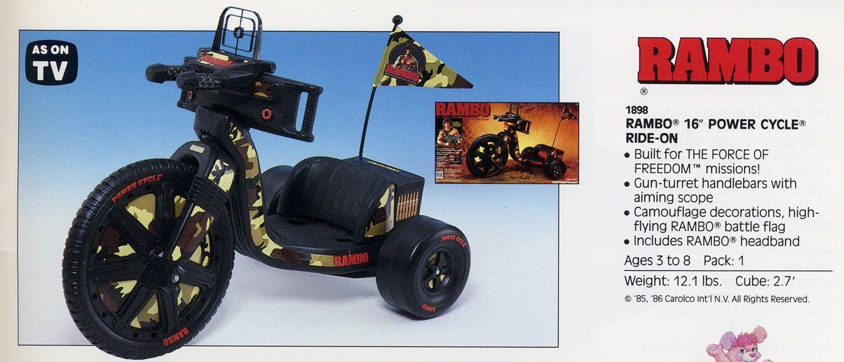 Rambo Power Cycle Nostalgia Toy Box Mcdonalds Toys