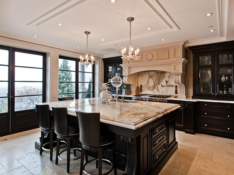 Dark Cabinets   Absolutely Stunning! #kitchen #home #beauty