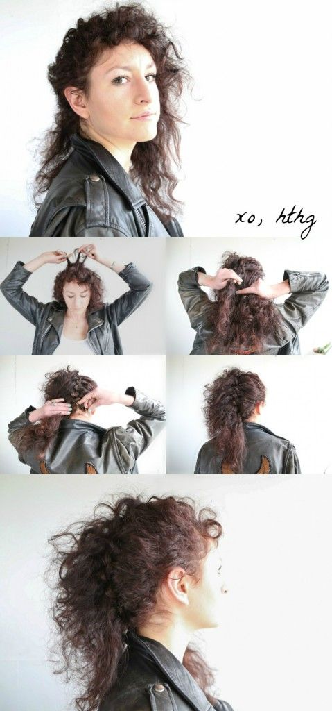 How To Hair Girl Cyndi Lauper Waterfall Braid For Curly Hair Hthg