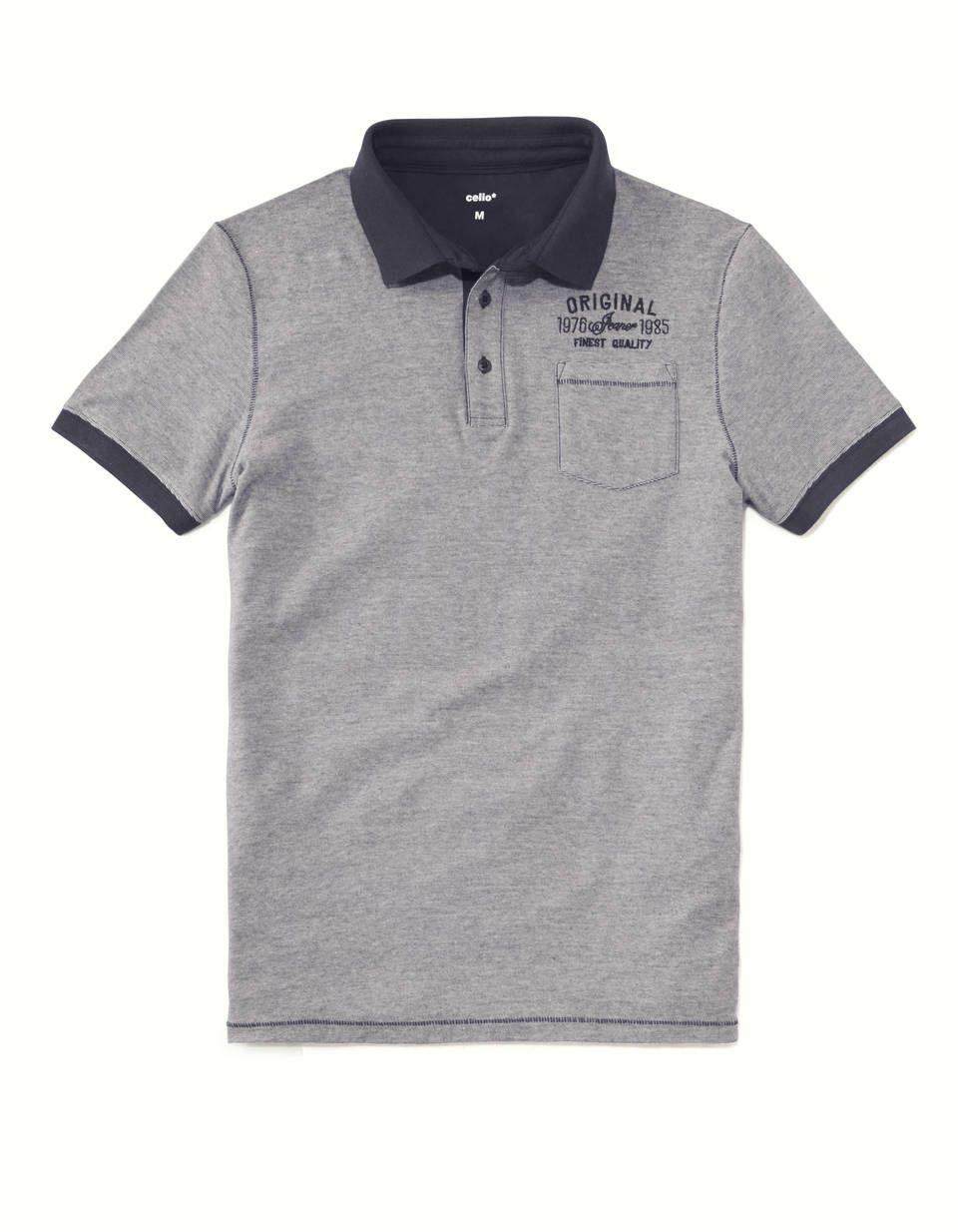 Polo manches courtes rayé jersey 100% coton - BEMICRO ECRU02 - Image à plat  - Celio France b1f122290ff5