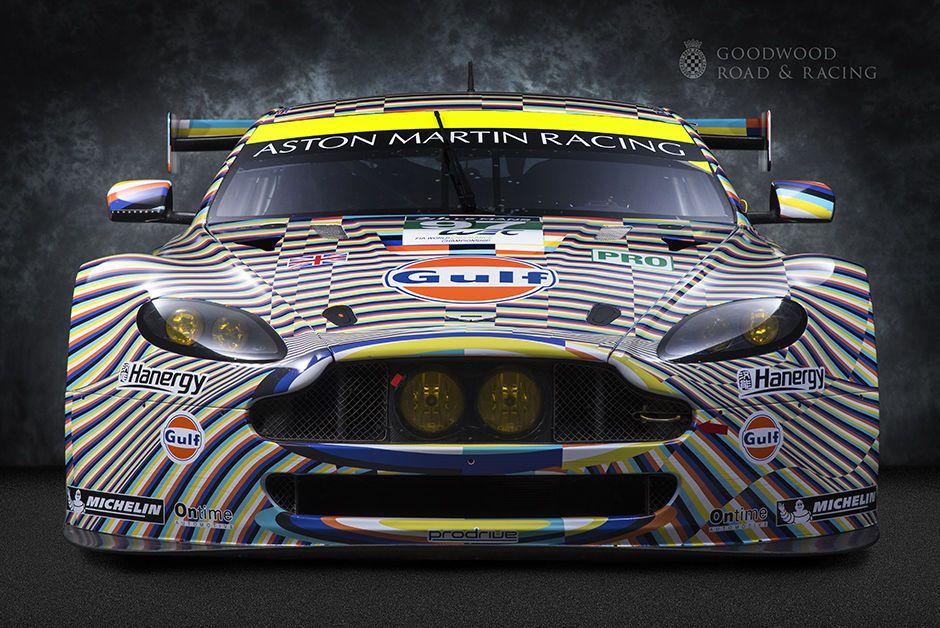 Goodwood Greats Aston Martin V8 Vantage Gte Art Car Le Mans