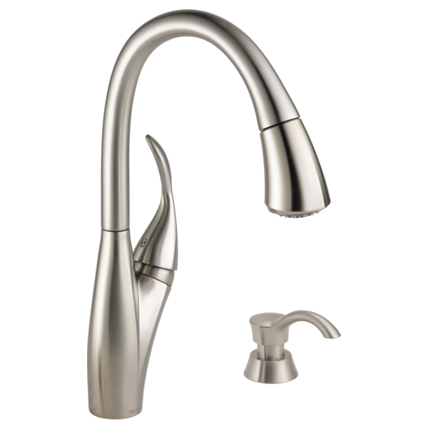 Delta 9197 Dst Cassidy Pull Down Kitchen Faucet With Magnetic Docking Spray Head Polished Nickel Faucet Kitchen Sin Kitchen Faucet Bronze Kitchen Faucet Faucet