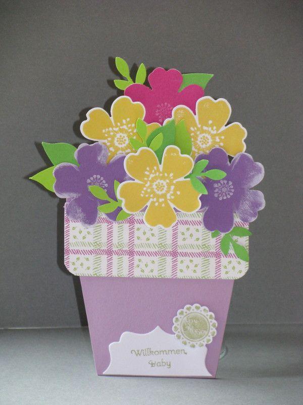 Blumentopfkarte, Pansy Punch, Bird Punch, Perfekte Pärchen, vielen Dank für die Anleitung! http://youtu.be/Fg2vdXDJO-M