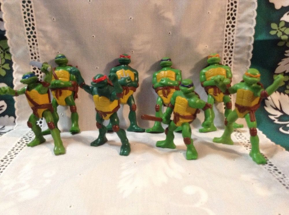 2007 Mcd S Tmnt Toys 1 2 3 4 5 6 7 8 Complete Set With