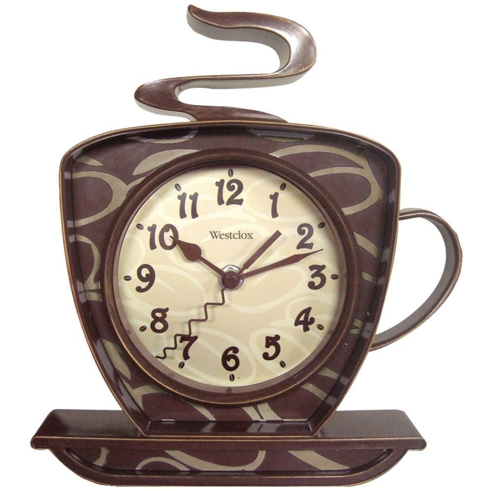 Details about coffee cup wall clock by westclox mfrpartno