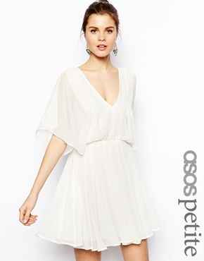 ASOS+PETITE+Skater+Dress+with+Angel+Sleeves