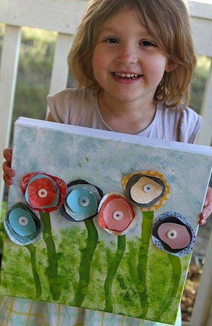 Flower Canvas for kids.