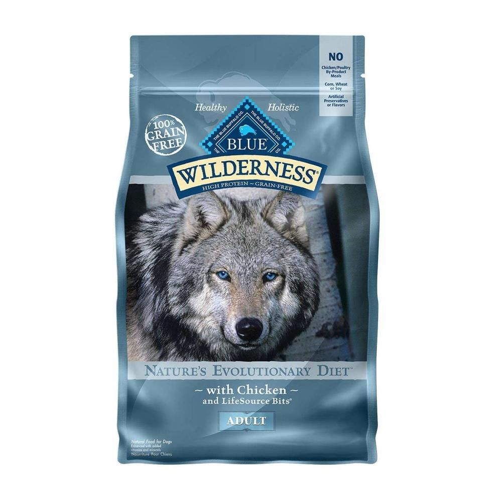 Dry Dog Food High Protein Grain Free Natural Adult Chicken 24 Lb