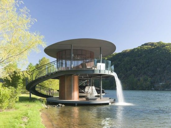 Shore Vista Boat House By Bercy Chen Studio I Like Architecture - Awesome floating house shore vista boat dock by bercy chen studio