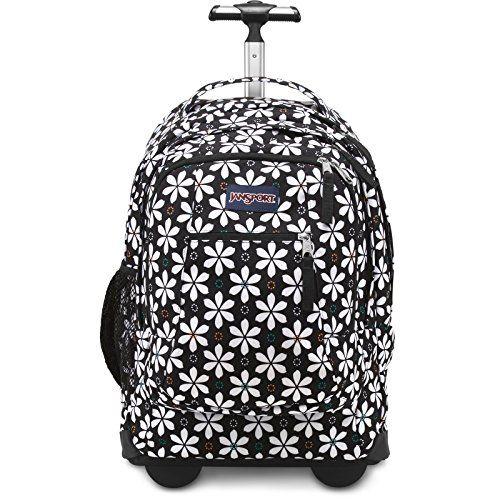 Jansport Driver 8 Rolling Backpack - Black Floral Geo. Padded ...