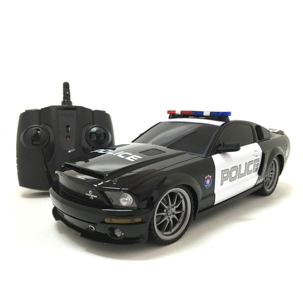 Hit the streets or the kitchen floor with this multi channels 118 scale remote control shelby gt350 police car this realistic looking police car features