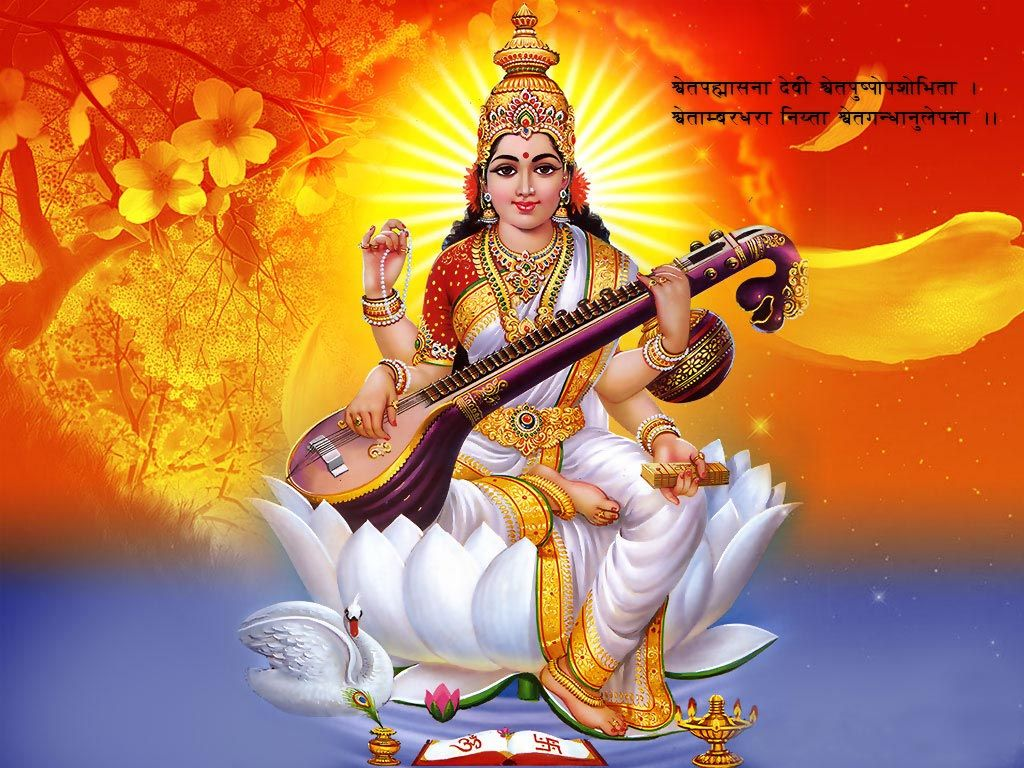 Saraswati Mata Wallpaper Hd Free Download Hd In 2019 Saraswati