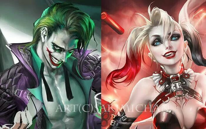 ece6e936587029 Amazing Joker and Harley Quinn by Sakimi Chan