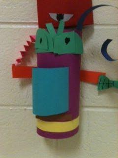 Elfers Art Room: Kindergarten Totem Pole Sculptures