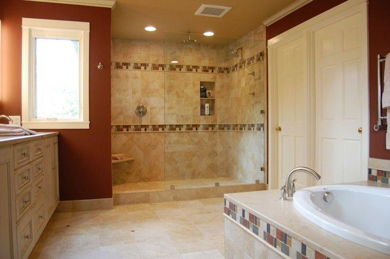 platos doble ducha rojo distribucion | interiores para baños