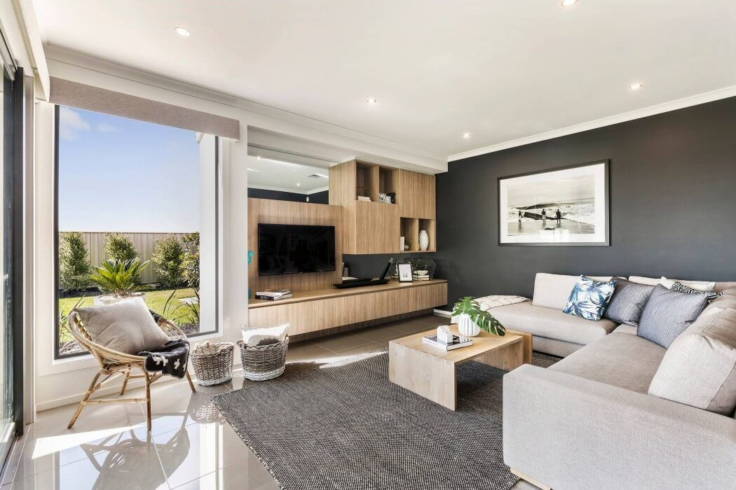 Botanica 32 by metricon living rooms interiors and room for Metricon homes interior design