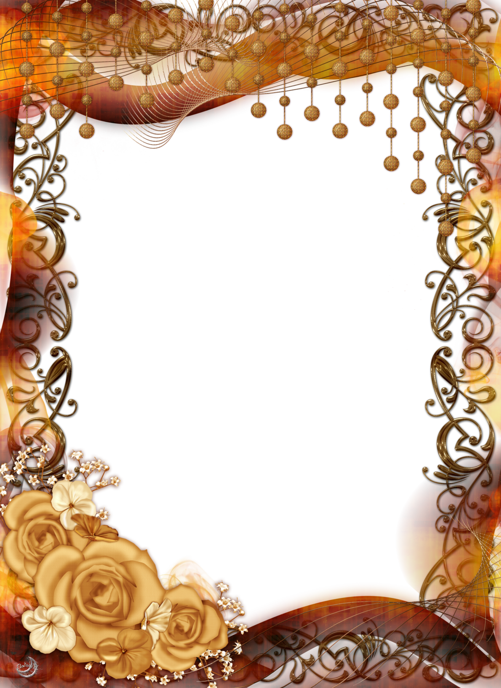 frame with roses and ornaments by lyottadeviantartcom on deviantart