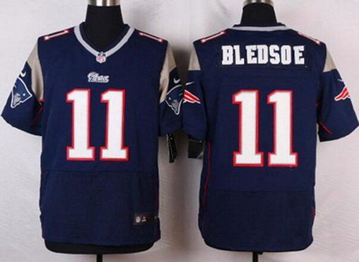 1ea69180e ... New England Patriots 11 Drew Bledsoe Navy Blue Retired Player NFL Nike  Elite…