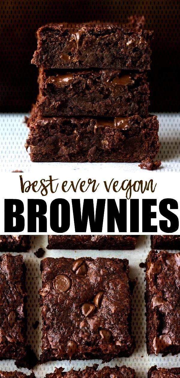 Best Ever Vegan Brownies Recipe  - •food• -