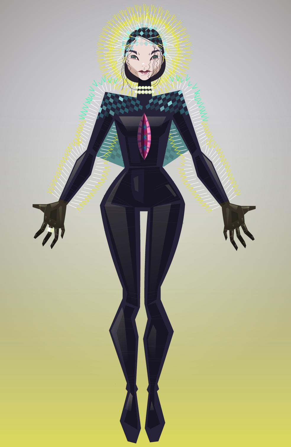 Björk vulnicura digital drawing by julia vereenoghe bjork en