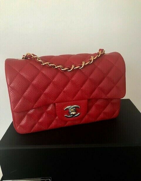 4dc99bf6d3a6a5 Details about CHANEL 100% Auth. Black Lambskin Quilted Mini Square ...