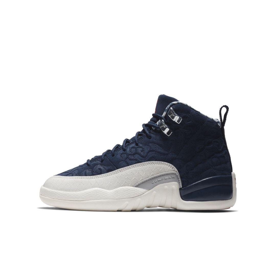 a36f164f7f1 Air Jordan 12 Retro Premium Big Kids' Shoe Size 4Y (College Navy ...