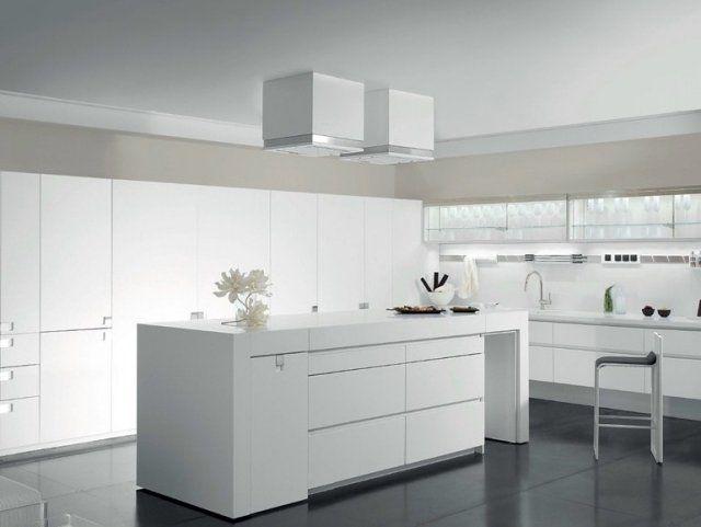 Cuisine blanche et grise - 30 designs modernes et élégants
