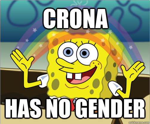 """Does it really matter? I refer to Crona as """"he"""" or """"him,"""" just as a gender neutral. We can all agree that he is flipping adorable, and that's all that counts."""